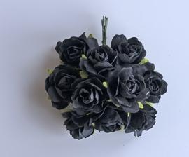 Wild rose black 5 pc 2,5 cm