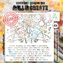 """AALL & Create 6""""x6"""" Stencil #34"""