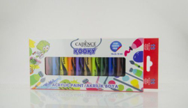 Cadence Kooky acrylverfset 15ml 12 st 11 005 0000 SET1 12x15ML