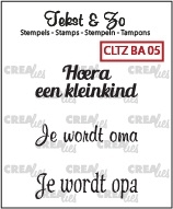 Crealies Clearstamp Tekst&Zo Baby 5 (NL)
