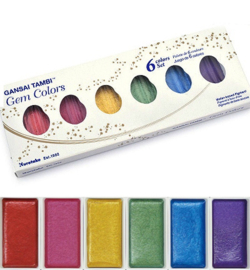 Gem Colors, 6 Colors set MC20GC/6v