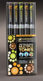 Chameleon Color Tones 5 Pen Earth Tones Set