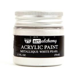 Finnabair Art Alchemy Acrylic Paint Metallique White Pearl (964436)