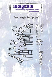 IndigoBlu Fandangle Lollipops A6 Rubber Stamp (IND0606)
