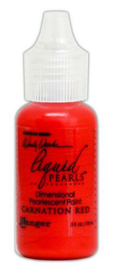 Ranger Make Art Liquid Pearls 18ml - Carnation Red LPD72010 Wendy Vecchi
