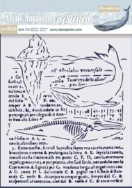Stamperia Thick Stencil 20x25cm Whale (KSTD056)