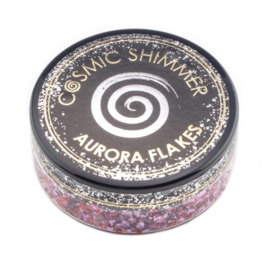 Cosmic Shimmer Aurora Flakes Blissful Berry 50ml