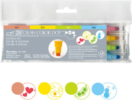 Zig Clean Color Dot 4 color set TC-6100/4V 4 colors / 0.5mm / DOT