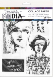 Dina Wakley media collage paper vintage sketches MDA68181