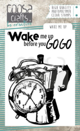 COOSA Crafts clearstamps A7 - Wake me Up A7 COC-069