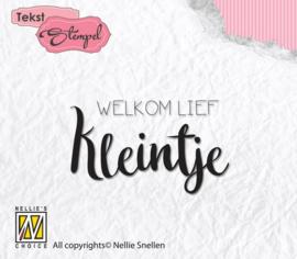 Nellies Choice Clearstempel Tekst (NL) - Welkom lief kleintje DTCS013