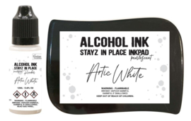 Couture Creations Stayz in Place Alcohol Ink Pearlescent Artic White Pad+Reinker (CO728165)