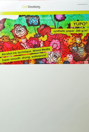 Craftemotions Yupo Synthetic paper/ Pro Silk Card