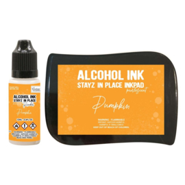 Couture Creations Stayz in Place Alcohol Ink Pearlescent Pumpkin Pad+Reinker (CO728177)