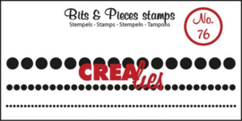 Crealies Clearstamp Bits&Pieces no. 76 1x95-2,5x95-5x95mm / CLBP76