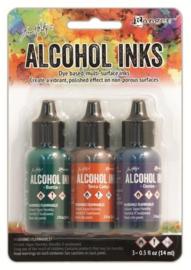 Ranger Alcohol Ink Kits Rustic Lodge  3x15 ml TIM19770 Tim Holtz
