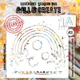 """AALL & Create 6""""x6"""" Stencil #33"""