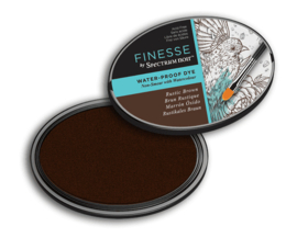 Spectrum Noir ovale Inktkussen - Finesse Water-proof - Rustic Brown