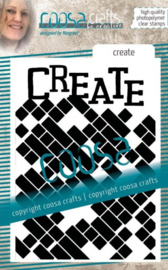 COOSA Crafts • Clear stempel #14 Achtergrond create COC-086