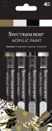 Spectrum Noir Acrylic Paint Marker sets (4st)-Essential