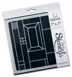 Claritystamp - Abstract Square 1 Stencil  17,78 x 17,78 cm (STE-PA-00167-77