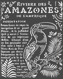 Stamperia Thick Stencil 20x25cm Amazonia Toucan (KSTD065)