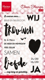Marianne D Stempel Bruid en Bruidegom (NL) CS0974