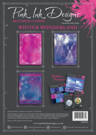 Pink ink rice paper Winter wonderland PIRIC04 A4