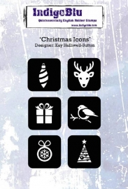 IndigoBlu Christmas Icons A6 Rubber Stamp