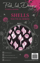 Pink Ink Designs A5 Clear Stamp Shells P1022