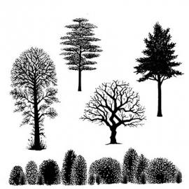 Lavinia Stamps Tree Scene LAV219