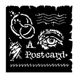 """Woodware 6"""" x 6"""" Stencil Postcard"""