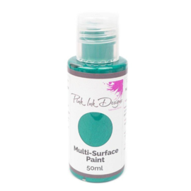 Pink Ink Multi Surface Paint Turquoise Wave Shimmer