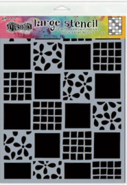 Ranger Dylusions Stencils Square Dance - Large DYS75325
