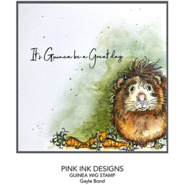 Pink Ink Designs Guinea Wig A5 Clear Stamp PI109