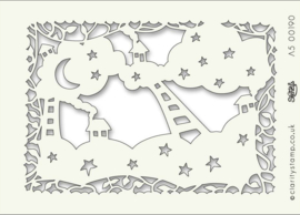 Claritystamp Art Stencil A5 House Of Stars (STE-FY-00190-A5)
