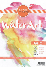 Kippers  WaterArt Aquarel Papier 12 sheets A4/300grs