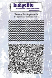 IndigoBlu Teeny Backgrounds A6 Rubber Stamp (IND0221PC)