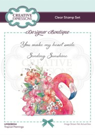 Creative Expressions Designer Boutique Collection Tropical Flamingo A6 Clear Stamp UMSDB014