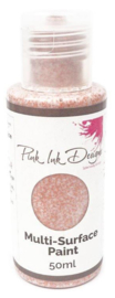 Pink Ink Multi Surface Paint Copper Chic Sparkle