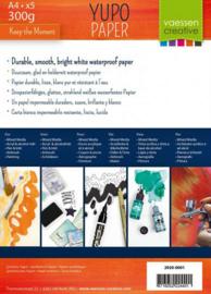 Vaessen Creative • Yupo papier wit A4 300g x5 2920-0001