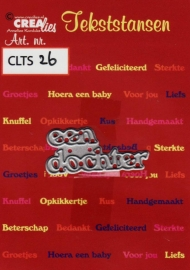 Crealies Tekststans no 26 een dochter (NL) CLTS26