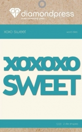 Diamant Pers Diamond Press Woorden snijmal - Sweet XOXO DP1193
