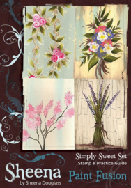 Sheena Douglass Paint Fusion A6 unmounted rubberstempel - Simply Sweet