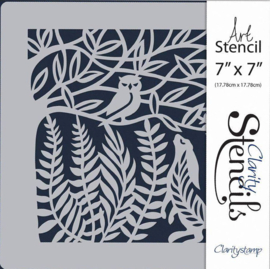 Claritystamp Hare and the Owl 7x7 Inch Stencil (STE-AN-00491-77)
