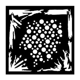 """Woodware 6"""" x 6"""" Stencil Grunge"""