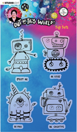 ABM-OOTW-STAMP73 ABM Clear Stamp Big Bots Out Of This World nr.73