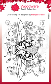 Dancing Beetle 4 in x 6 in Clear Stamp