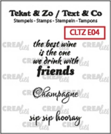 Crealies Clearstamp Tekst & Zo tekst Wine C (ENG) CLTZE04 max 26mm (10-18)
