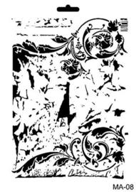 Cadence Mask Stencil MA - achtergrond ornament 03 021 0008 21X29cm